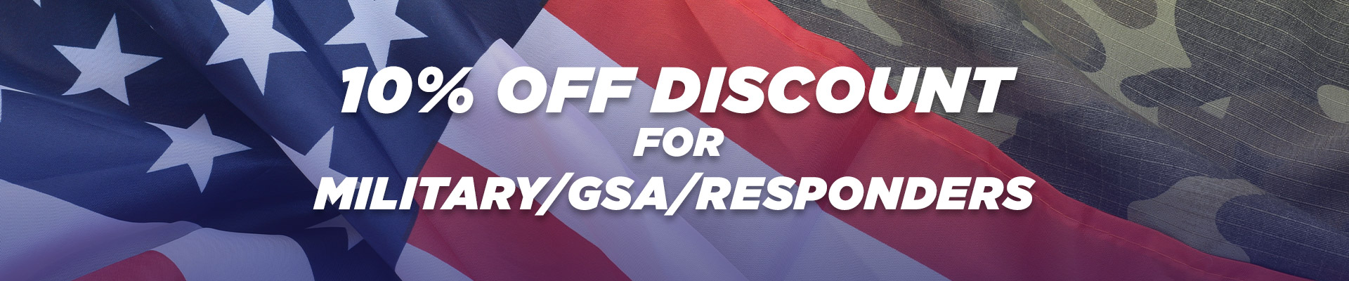 Military Discount Banner